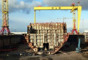 image: UK Belfast shipyard trade union Harland and Wolff Dolphin Drilling Infrastrata