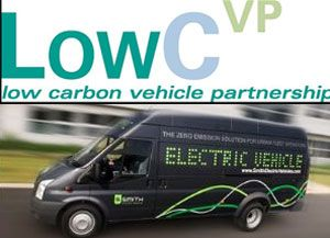 image: UK road transport hybrid car freight electric truck van