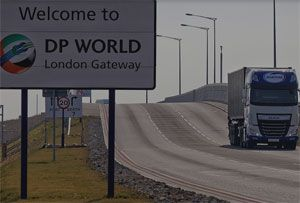 image: UK Maritime container road haulage London Gateway Felixstowe port vessels logistics multimodal