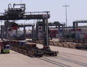 image: UK intermodal freight road haulage cargo logistics PR internet brokerage