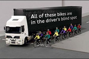 image: UK cyclists TfL road safety week freight haulage Brake Bike Smart trucks