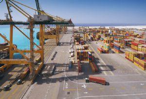 image: Saudi Arabia King Abdullah Port OOCL ocean shipping container line logistics infrastructure