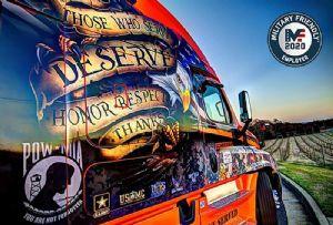 image: US trucking logistics veteran support truck drivers VIQTORY�s 2020 Military Friendly Employer Award