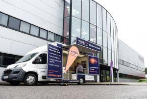image: UK Pallet distribution road haulage drivers sight charity Vista Pall-Ex