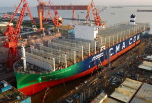 image: CMA CGM container shipping LNG vessel ships TEU