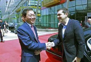 image: Denmark UK US Greece France Canada fork lift truck freight shipping logistics