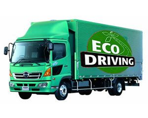 image: UK Road haulage freight transport shipping interests eco driving carbon reduction mandatory training CPC