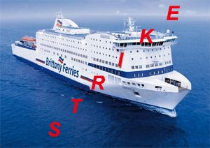 image: France RoRo ferry freight Spain strike UK unions Brittany Ferries sailings