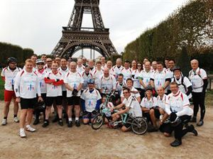 image: Transaid freight logistics transport cycle charity ride Paris London