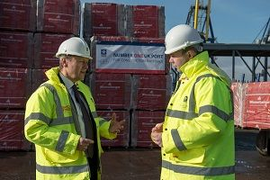 image: UK freight container construction housing cargo port TEU Barwell MP