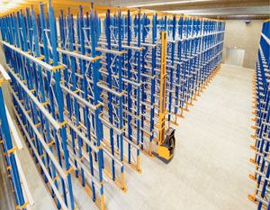 image: Jungheinrich Narrow Aisle pallet racking IT Recycling Fork Lift Truck materials handling