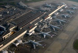 image: UK London Heathrow airport air freight forwarding aviation capacity