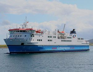 image: UK freight ferry NorthLInk Babcock Caledonian Orkney Scrabster Stromness trucks