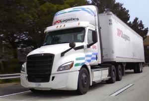 image: US, XPO, logistics, Daimler, electric, truck,