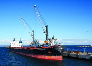 image: Liebherr data mining intelligent bulk freight handling maritime cranes