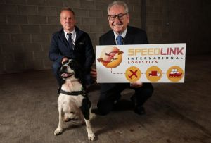 image: Belfast, UK, dogs, security, screening, cargo, freight, logistics, hub, Speedlink, airport,