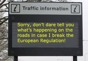 image: Europe EU Commission real time information road haulage freight private motorist Directive 2010/40/EU