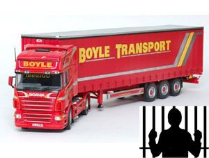 image: UK tachograph crime road haulage operator jail term fine Newry