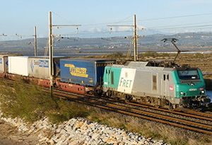 image: Europe intermodal VIIA rail freight multimodal transport road haulage piggy back P&O