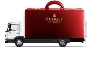 image: UK Budget road haulage freight transport warehousing fuel duty frozen