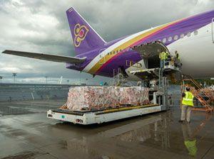 image: Thailand Airways Thai Boeing 777 special cargo