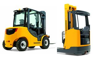image: Jungheinrich Still Crown fork lift reach truck logistics exhibition