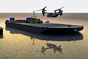 image: US, Defense, military, Sea Machines, robotics, Foss, helicopter, landing, barges, autonomous,