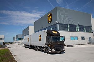 image: UK DP World London Gateway Port and Logistics Park UPS parcel group package sorting facility