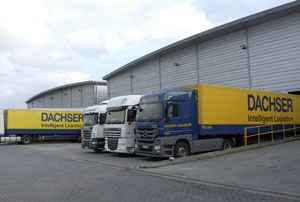 image: UK 3PL Dachser supply chain European road freight Dartford Kent