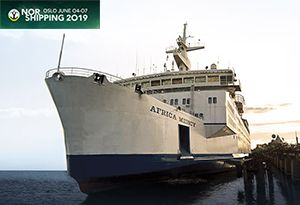 image: Norway Mercy Ships Nor Shipping maritime shipyards crane makers 2019 event