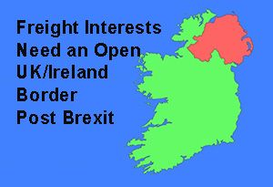 image: Ireland UK Irish Border Brexit freight transport logistics road haulage Northern EU
