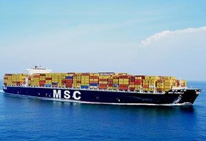image: MOL container shipping box freight South America MSC Maersk Line