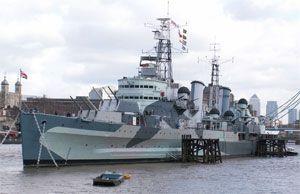 image: UK Russia HMS Belfast shipyard shipping