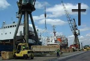 image: UK road haulage logistics death dock port crane Tilbury