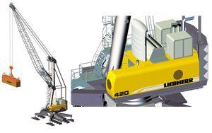 image: Austria mobile harbour crane freight container cargo vessel tonne