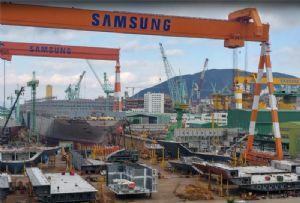 image: China, South Korea, shipyard, Samsung, Ningbo, shipping, LNG, vessels, strike,