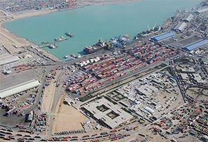 image: Iraq port Umm Qasr container freight terminal Hutchison ICTSI Basra