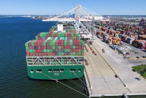 image: US, Baltimore, Helen Delich Bentley, tonnes, TEU, containers, Roll On/Roll Off, cranes, recovery, Aldi,