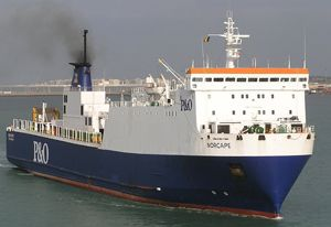 image: UK RoRo freight ferry Troon Larne Cairnryan service