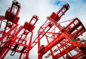 image: UK Peel Ports Briggs Materials handling contract maintenance freight container terminal