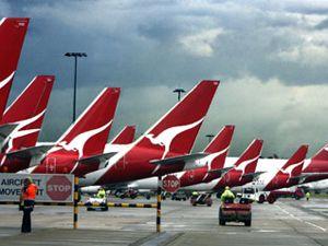 image: Qantas Australia strike stoppage freight cargo services