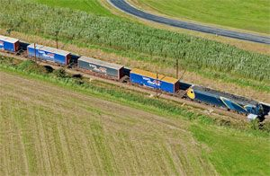 image: Netherlands Sweden Germany multi modal rail freight intermodal reefer containers pallet