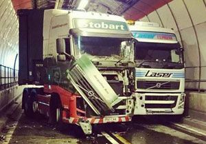 image: UK M25 Freight transport road haulage tolls Dartford Tunnel
