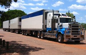 image: Australia shipping commercial transport trucking