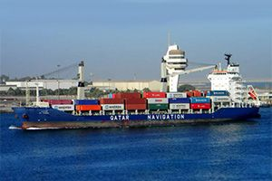 image: Qatar blockade Container Feeder Services freight carriers TEU Kuwait Milaha reefer