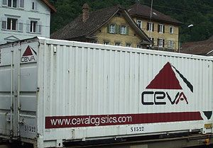 image: Ceva freight forwarding logistics New York US Antwerp LCL container
