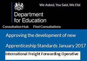 image: UK freight forwarding BIFA logistics apprentice survey