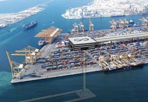 image: UAE Hyperloop One DP World shipping Jebel Ali port vacuum tube intermodal ships