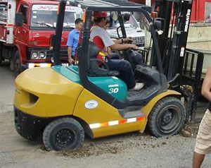 image: Eagle Freight Terminal forklift pothole Health and Safety at Work Act pothole road haulage