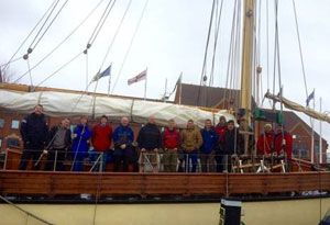 image: UK ABP port staff seafaring charity Maybe Sailing Tall Ship